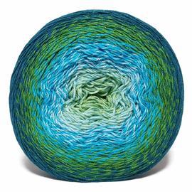 Пряжа Yarnart Flowers Moonlight - 3256 петроль/зелень/голубой, Цвет: 3256 петроль/зелень/голубой