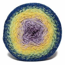 Пряжа Yarnart Flowers Moonlight - 3257 синий/жёлтый/сирень, Цвет: 3257 синий/жёлтый/сирень