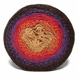 Пряжа Yarnart Flowers Moonlight - 3265 коричневый/красный/беж, Цвет: 3265 коричневый/красный/беж