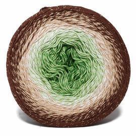 Пряжа Yarnart Flowers Moonlight - 3272 коричневый/зелёный, Цвет: 3272 коричневый/зелёный
