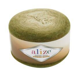 Пряжа Alize Angora Gold Ombre Batik - 7355 хаки, Цвет: 7355 хаки
