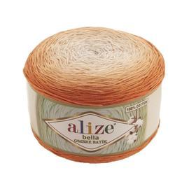 Пряжа Alize Bella Ombre Batik - 7403 оранжевый, Цвет: 7403 оранжевый