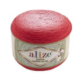 Пряжа Alize Bella Ombre Batik - 7404 красный, Цвет: 7404 красный