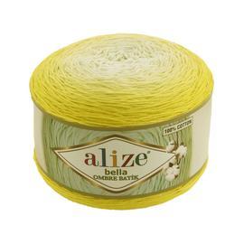 Пряжа Alize Bella Ombre Batik - 7414 лимон, Цвет: 7414 лимон