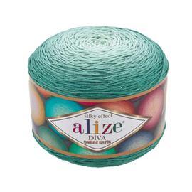 Пряжа Alize Diva Ombre Batik - 7369 зеленая бирюза, Цвет: 7369 зеленая бирюза