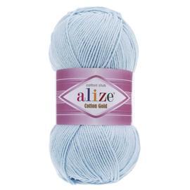Пряжа Alize Cotton Gold - 513 неж.голубой, Цвет: 513 неж.голубой