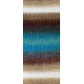 Пряжа Nako Vals - 86844 бежево-бирюзовый, Цвет: 86844 бежево-бирюзовый