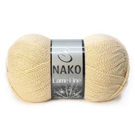 Пряжа Nako Lame Fine - 4671А ваниль, Цвет: 4671А ваниль