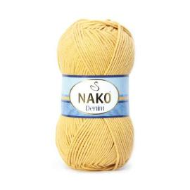 Пряжа Nako Denim - 10598 желтый, Цвет: 10598 желтый