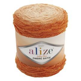 Пряжа Alize Softy Plus Ombre Batik - 7296 оранжевый, Цвет: 7296 оранжевый
