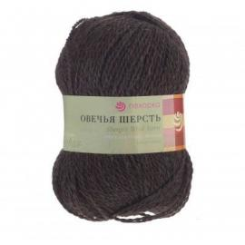 Пряжа Пехорка Овечья Шерсть - 251 коричневый, Цвет: 251 коричневый