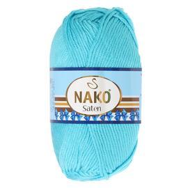 Пряжа Nako Saten 100 - 3323 бирюза, Цвет: 3323 бирюза
