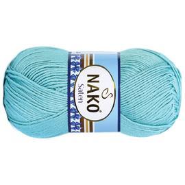 Пряжа Nako Saten 100 - 10482 пыл.бирюза, Цвет: 10482 пыл.бирюза