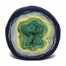 Пряжа Рассказовская Ангорка Колор - 08 темно синий/голубой/зеленый, Цвет: 08 темно синий/голубой/зеленый