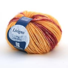 Пряжа Bertagna Filati Livigno - 207 желтый принт, Цвет: 207 желтый принт