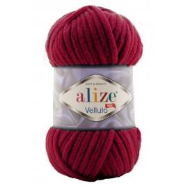 Пряжа Alize Velluto - 107 вишня, Цвет: 107 вишня