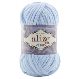 Пряжа Alize Velluto - 218 неж.голубой, Цвет: 218 неж.голубой