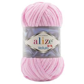 Пряжа Alize Velluto - 31 неж.розовый, Цвет: 31 неж.розовый