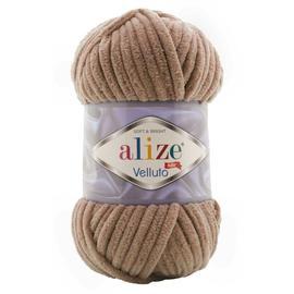 Пряжа Alize Velluto - 329 тем.бежевый, Цвет: 329 тем.бежевый