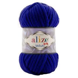 Пряжа Alize Velluto - 360 тем.синий, Цвет: 360 тем.синий