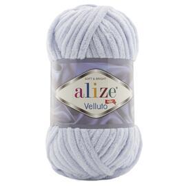 Пряжа Alize Velluto - 416 св.серый, Цвет: 416 св.серый
