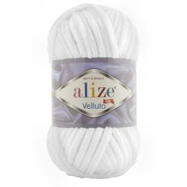 Пряжа Alize Velluto - 55 белый, Цвет: 55 белый