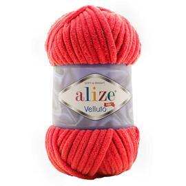 Пряжа Alize Velluto - 56 красный, Цвет: 56 красный