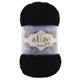 Пряжа Alize Velluto - 60 черный, Цвет: 60 черный