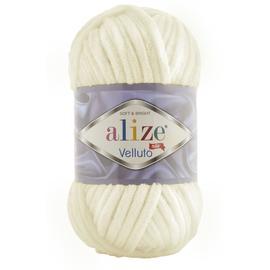 Пряжа Alize Velluto - 62 молочный, Цвет: 62 молочный