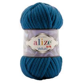 Пряжа Alize Velluto - 646 петроль, Цвет: 646 петроль