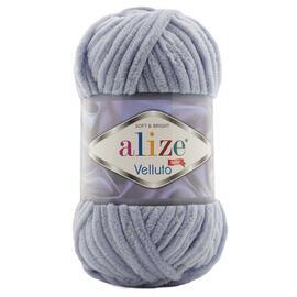 Пряжа Alize Velluto - 87 тем.серый, Цвет: 87 тем.серый