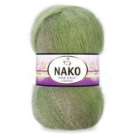 Пряжа Nako Mohair Delicate Colorflow - 76057 киви, Цвет: 76057 киви
