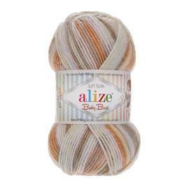 Пряжа Alize Baby Best Batik - 7541 бежевый принт, Цвет: 7541 бежевый принт