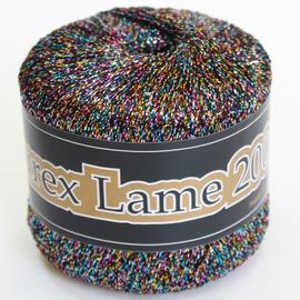 Пряжа Seam Lurex Lame 200 - 957 радужный темный, Цвет: 957 радужный темный