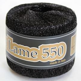 Пряжа Seam Lurex Lame 550 - 0904 черный, Цвет: 0904 черный