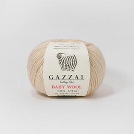 Пряжа Gazzal Baby Wool - 839 песочный, Цвет: 839 песочный
