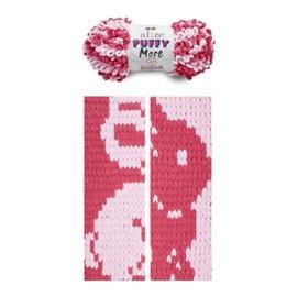 Пряжа Alize Puffy More - 6274 мальва/св.розовый, Цвет: 6274 мальва/св.розовый