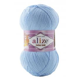 Пряжа Alize Cotton Gold - 728 неж.голубой, Цвет: 728 неж.голубой
