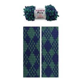 Пряжа Alize Puffy More - 6293 зеленый/синий, Цвет: 6293 зеленый/синий