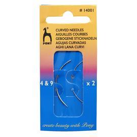 Иглы швейные ручные в ассортименте, Pony, Изогнутые бисерные №4,9, 2шт.