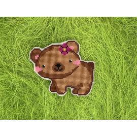 Вышивка крестиком Cross ART (Кросс Арт) Медвежонок лапочка, 10.1х8.5 см.