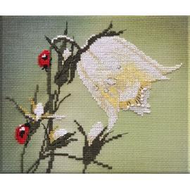 Вышивка крестиком Овен «Стильные вещи для дома» Белый колокольчик, 17х16 см.
