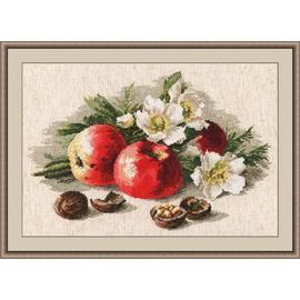 Вышивка крестиком Овен «Стильные вещи для дома» Натюрморт с яблоком, 38х24 см.