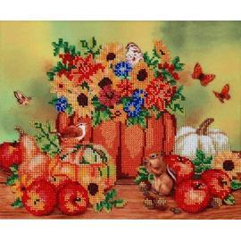 Вышивка бисером Hobby&Pro Hobby&Pro 'Осенние посиделки', 30х25 см.
