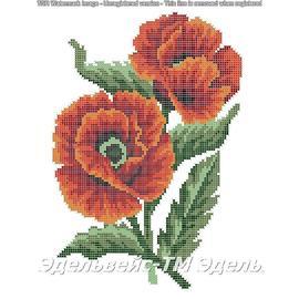 Вышивка бисером Эдельвейс - Творческая Мастерская Маков цвет, 30х40 см.