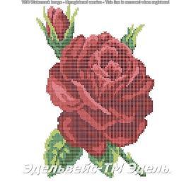 Вышивка бисером Эдельвейс - Творческая Мастерская Алая страсть, 30х40 см.