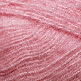 Пряжа Jina Мохер Премиум с люрексом - 20 розовый, Цвет: 20 розовый