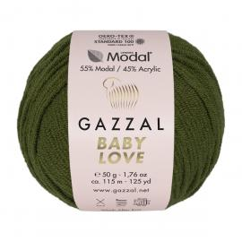 Пряжа Gazzal Baby Love-GZ - 1639 тем.хаки, Цвет: 1639