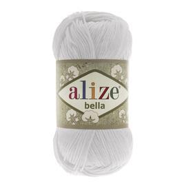 Пряжа Alize Bella 100 - белый 55, Цвет: белый 55