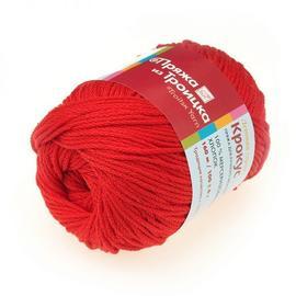 Пряжа Троицкая Крокус - 0042 красный, Цвет: 0042 красный
